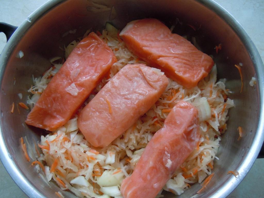Lachs auf Sauerkraut-04