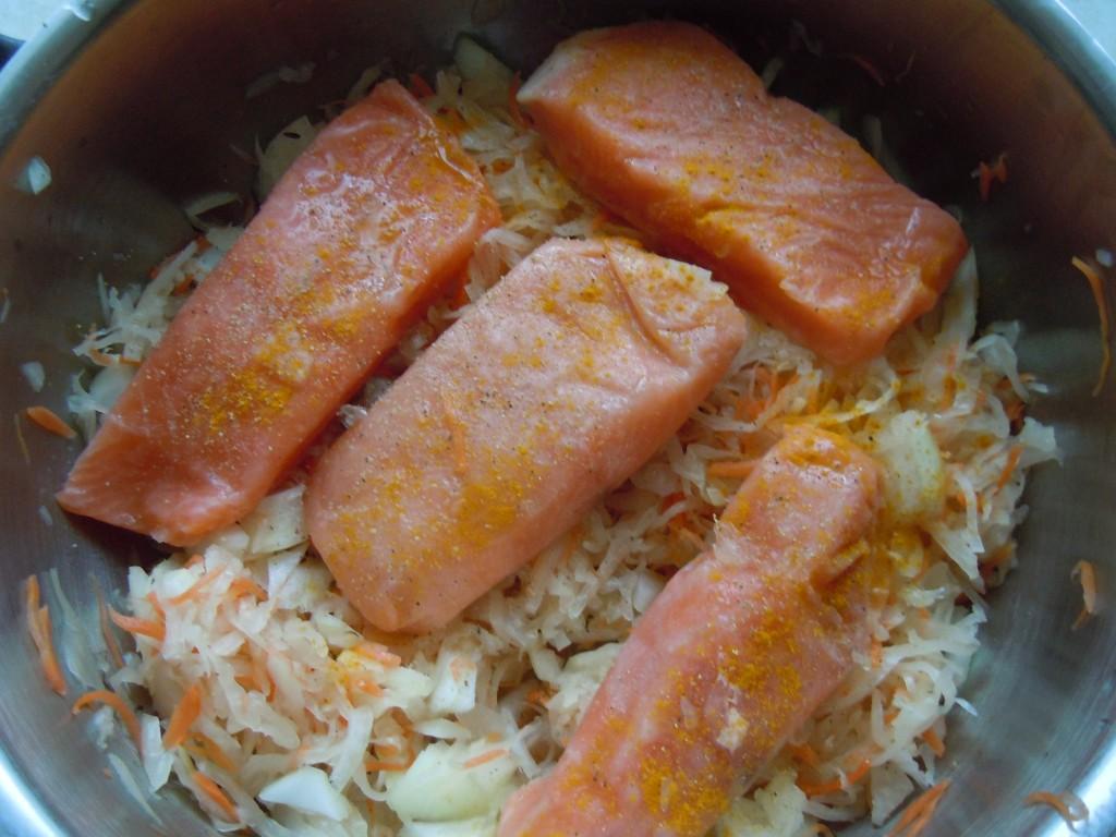 Lachs auf Sauerkraut-05