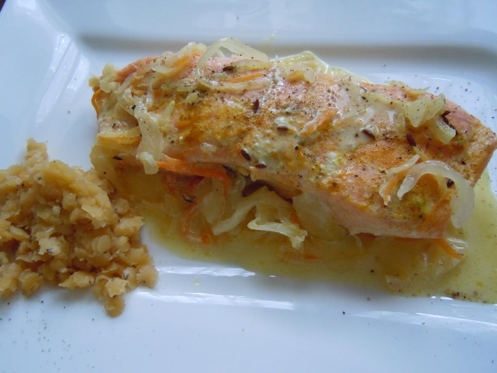 Lachs auf Sauerkraut-07